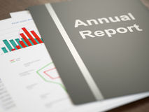 Rapport annuel Photos stock