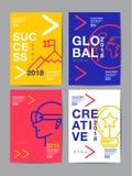 Rapport annuel 2018, avenir, affaires, conception de disposition de calibre, Co Photos libres de droits