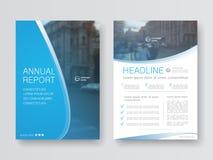 Rapport annuel de conception de couverture illustration libre de droits