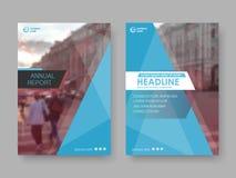 Rapport annuel de conception de couverture illustration de vecteur