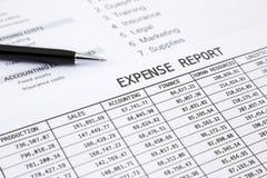 Rapport annuel de dépenses Photos libres de droits
