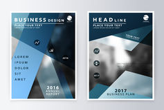 Rapport annuel et brochure Rapports de calibre de brochure illustration stock