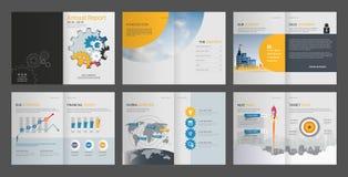 Rapport annuel, profil d'entreprise, brochure d'agence, calibre universel de présentation illustration de vecteur