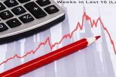 Rapport d'analyse financière photos stock