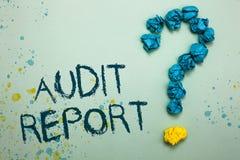 Rapport de contrôle des textes d'écriture Le concept signifiant une évaluation de situation financière complète des actifs sociau image libre de droits