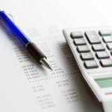 Rapport de finances photos stock