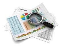 Rapport de gestion Images stock