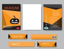 Rapport de Halloween de papier de couverture de conception Géométrique abstrait Photo stock