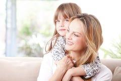 Rapport de mère et de descendant Image libre de droits