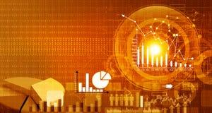 Rapport de marché boursier Image stock