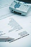 Rapport de Mortage - retard de paiement ? Images libres de droits