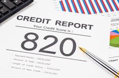 Rapport de score de crédit Photos libres de droits