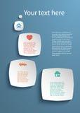 Rapport för affär för presentation för designbeståndsdelmall insurance01 Arkivfoto
