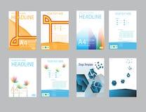 Rapport för designräkningspapper Abstrakt geometrisk vektormall Arkivbilder