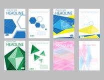 Rapport för designräkningspapper Abstrakt geometrisk vektormall Royaltyfria Bilder