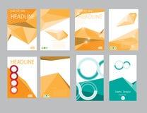 Rapport för designräkningspapper Abstrakt geometrisk vektormall Arkivfoton