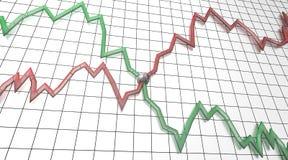 rapport för graf för jämvikt fallande växande royaltyfri illustrationer