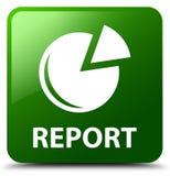 Rapport (grafiekpictogram) groene vierkante knoop Royalty-vrije Stock Fotografie