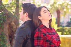 Rapport romantique entre un homme et une femme Photos stock
