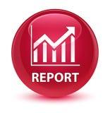 Rapport (statistiekenpictogram) glazige roze ronde knoop Stock Afbeelding