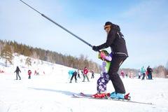 Rapport van de skitoevlucht Stock Foto