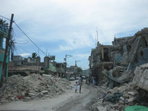 Rapportage op de straten van Haïti Royalty-vrije Stock Afbeeldingen