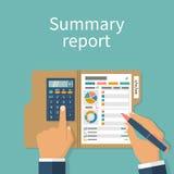 Rapportconcept Stock Afbeeldingen