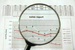 rapportera försäljningar Royaltyfri Fotografi