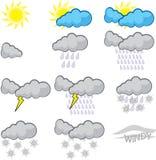 rapportera väder Arkivfoto