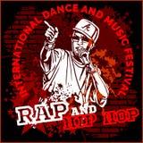 Rapporteur-hiphopgraffiti - vectoraffiche Stock Foto's