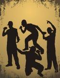 Rapporteur - rapper jongens stock illustratie