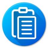 Rapportez la conception bleue d'icône de cercle Photos stock