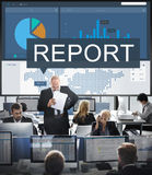 Rapportez le concept en résultant de graphique de l'information de recherches photos libres de droits