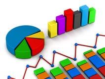 Rapportgrafdiagram vektor illustrationer