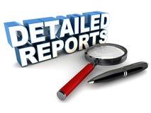 Rapporti dettagliati illustrazione di stock