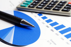 Rapporti finanziari Fotografia Stock Libera da Diritti