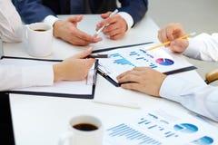 Rapporti finanziari Fotografie Stock