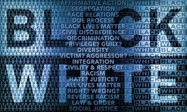 Rapporti interrazziali in bianco e nero Immagine Stock Libera da Diritti