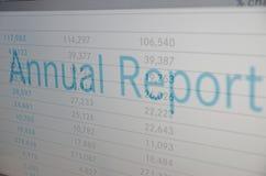 Rapporto annuale Fotografia Stock Libera da Diritti
