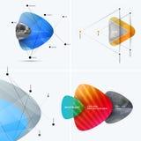 Rapporto annuale astratto, modello di vettore di affari Progettazione dell'opuscolo, copertura Fotografia Stock