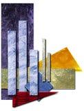 Rapporto annuale del diagramma a colonna Immagini Stock Libere da Diritti