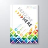 Rapporto annuale della copertura illustrazione vettoriale