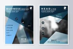 Rapporto annuale ed opuscolo Rapporti del modello dell'opuscolo illustrazione di stock
