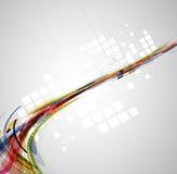 Rapporto d'affari astratto di tecnologie informatiche della sfuocatura Fotografia Stock Libera da Diritti
