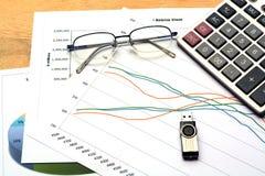 Rapporto del grafico di affari Fotografia Stock