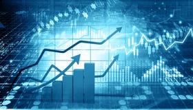 Rapporto del mercato azionario immagine stock