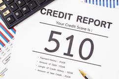 Rapporto del punteggio di credito fotografia stock libera da diritti