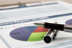 Rapporto di analisi del grafico commerciale Immagine Stock Libera da Diritti