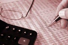 Rapporto di contabilità Fotografia Stock Libera da Diritti