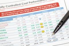 Rapporto di finanza Immagini Stock